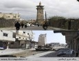 مسجد عمری در درعا، در سالهای ۲۰۱۱ و ۲۰۱۳ Omari mosque in Deraa. Above in 2011 and below in 2013. Photograph: Reuters